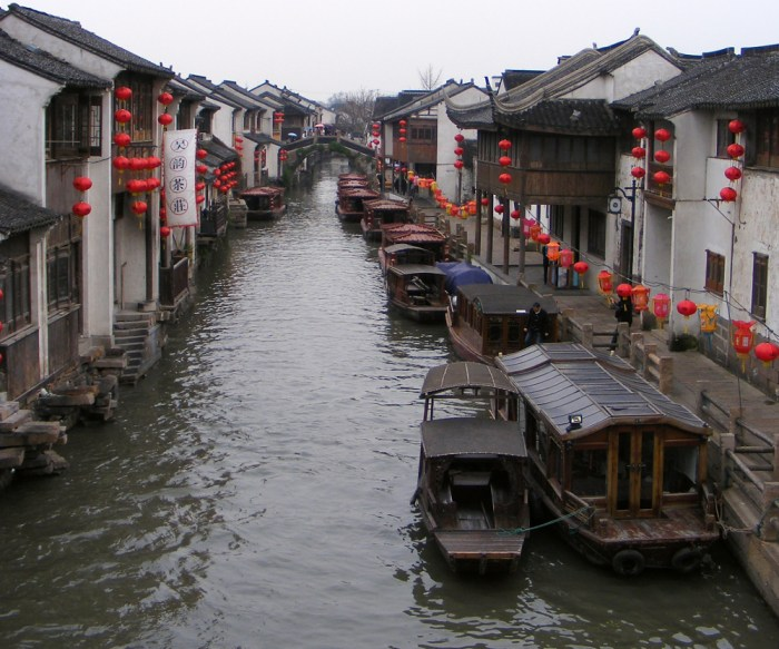 Un canal à Suzhou