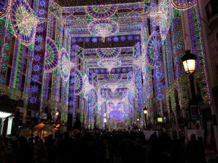 Les illuminations nocturnes Fallas Valencia
