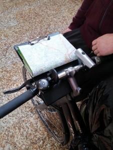 Porte-carte artisanal guidon vélo