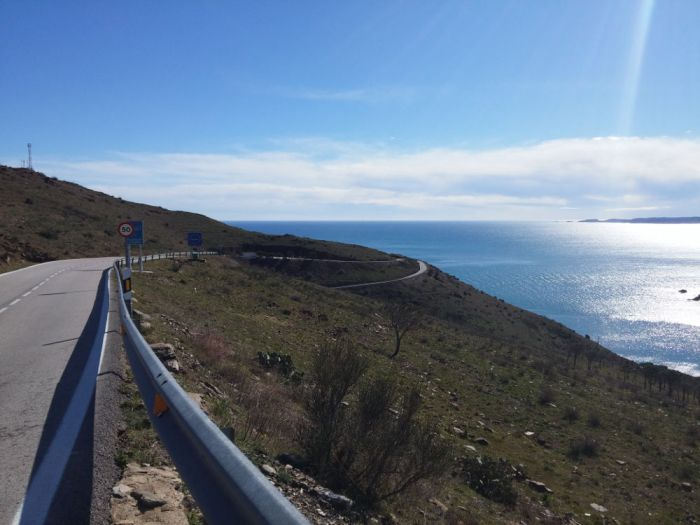 Route côte Catalogne Méditerranée