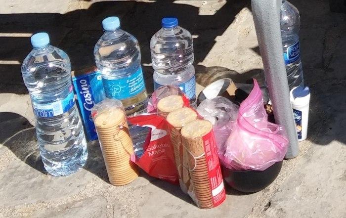 bouteilles eau voyage vélo