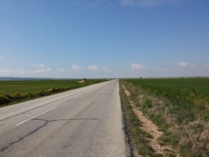 Route de campagne, proche d'Alatoz