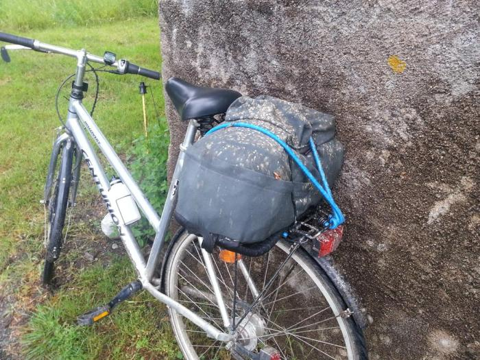 Vélo sale balade boue