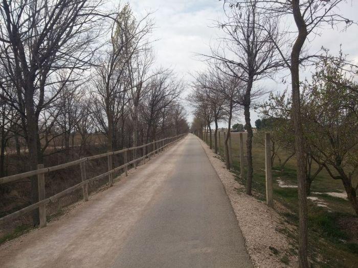 Via verde, en sortie d'Albacete