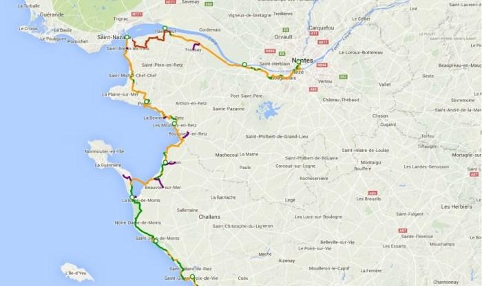 Itinéraire Vélodyssée Nantes Saint-Gilles-Croix-de-Vie