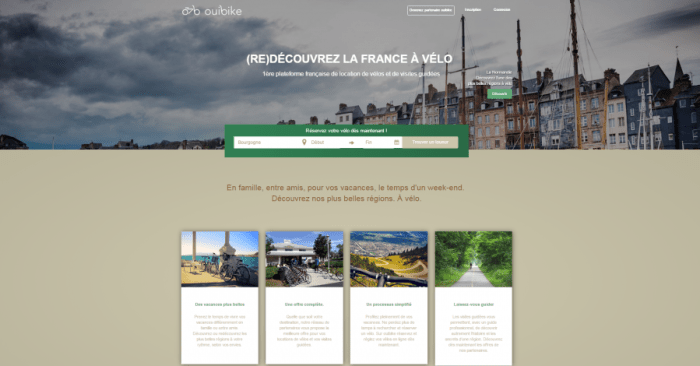 Page d'accueil Ouibike