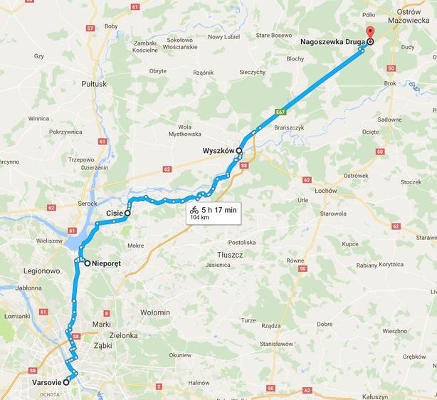 varsovie-nagoszewka à vélo