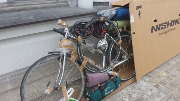 Boîte en carton transport vélo avion
