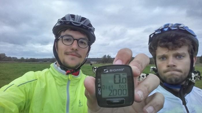 2000 km de vélo