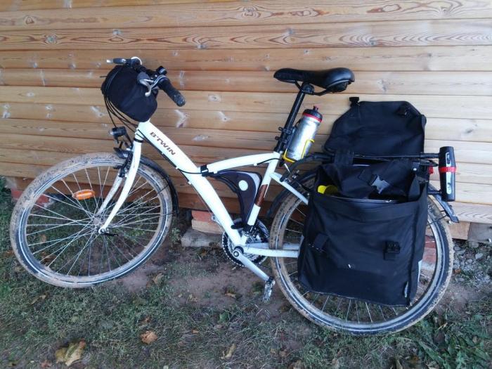 VTC B'Twin Original 300 voyage à vélo