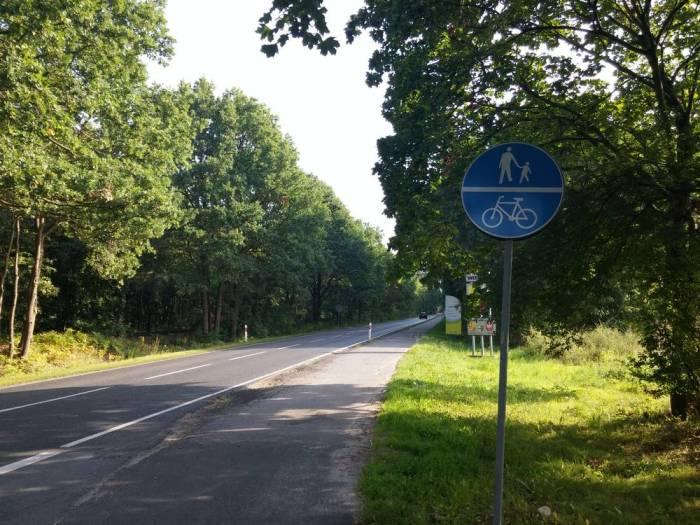 Piste cyclable double séparée en Pologne