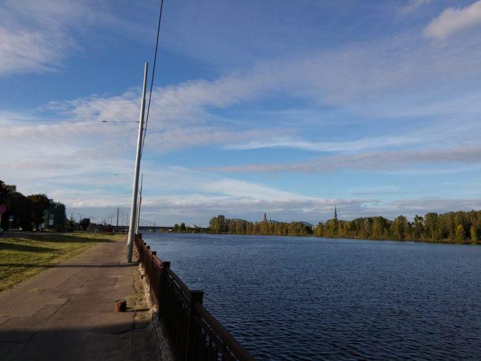 Piste cyclable séparée en Lettonie