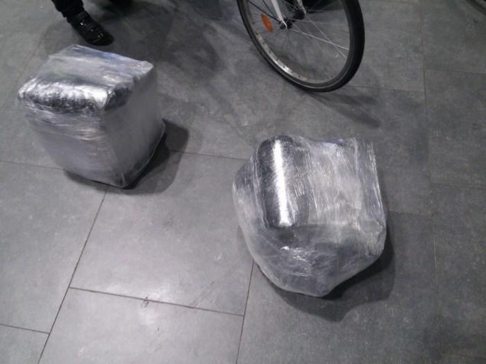 Sacoches vélos dans avion