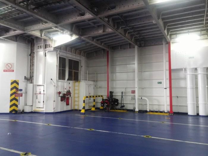 emplacement velo dans le ferry p&o calais dover