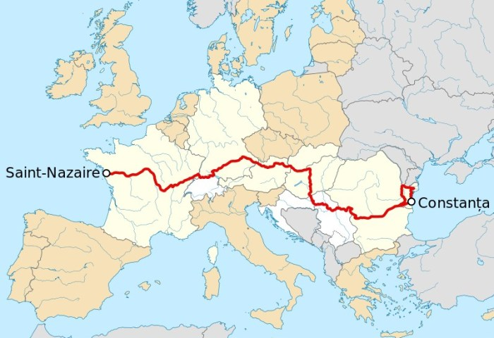 itineraire eurovelo 6 complet