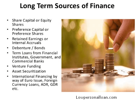 long term Sources of working capital