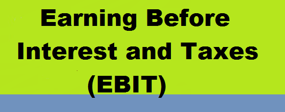 Earning Before Interest and Taxes (EBIT)