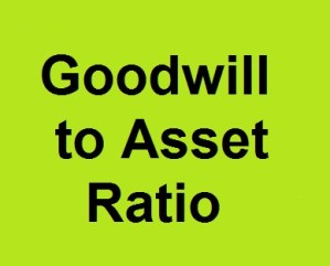 Goodwill to Asset Ratio