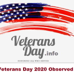Veterans Day 2020 Observed