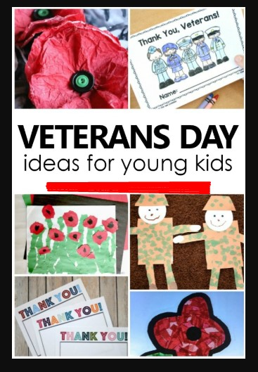 Happy Veterans Day 2020 Ideas for Kids and Children