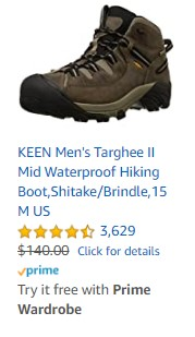 KEEN Men's Targhee II Mid Waterproof Hiking Boot,Shitake/Brindle,15 M US