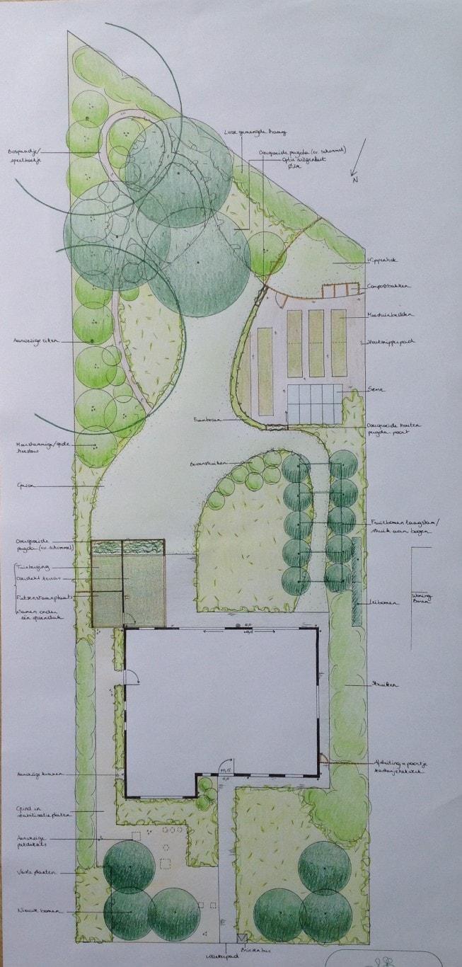 De eetbare tuin tuinontwerp in bonheiden en ontwerp for Tuinontwerp eetbare tuin