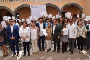 Otorga gobierno de San Pedro Cholula certeza jurídica a comerciantes