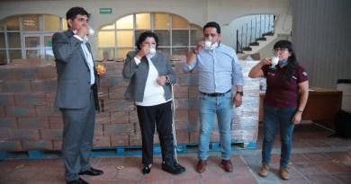 Recibe San Andrés Cholula 20 mil litros de leche para familias vulnerables
