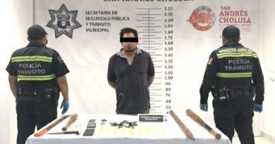 Detienen a sujeto con presunta droga en San Andrés Cholula