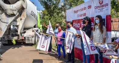 Inician gobierno de Coronango e iniciativa privada acciones de Piso Firme