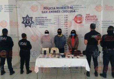 SSPTM de San Andrés detiene a 3 por robo al interior de vehículo