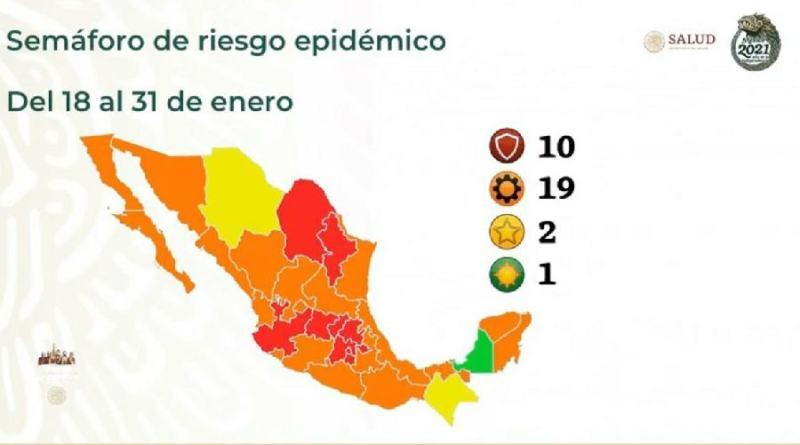 Tlaxcala, CDMX, Edomex y 7 estados más, en rojo por Covid-19