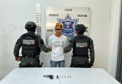 Detiene policía de Coronango a sujeto por presunto robo a negocio