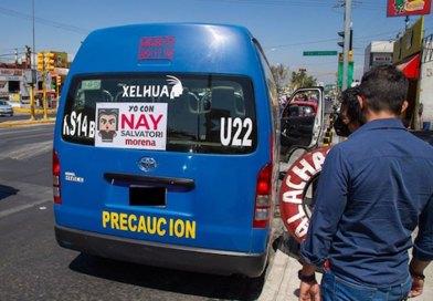 Amaga Barbosa a transportistas por propaganda electoral