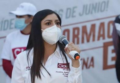Promete Claudia Rivera dignificación de viviendas y más espacios deportivos