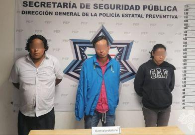 Captura Policía Estatal a presuntos asaltantes del transporte público