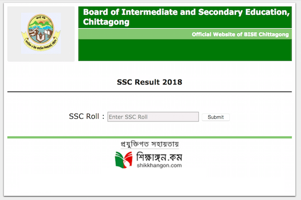 SSC result 2019 Chittagong Education Board with full