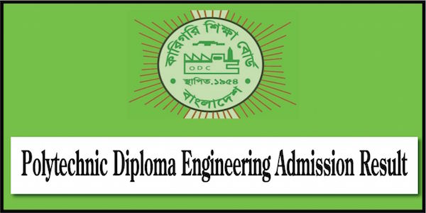 Polytechnic Diploma Admission Result 2020-21