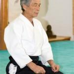 Maitre Tamura dans son dojo à Bras