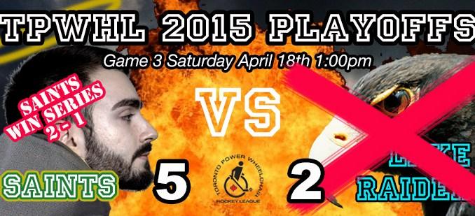 TPWHL Saints vs Lake Raiders