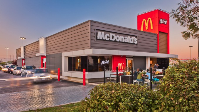 Exterior of McDonald's