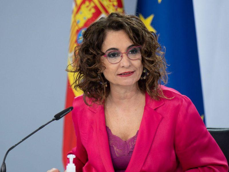 La ministra María Jesús Montero, en la rueda de prensa tras el Consejo de Ministros