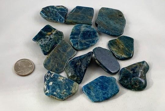 Blue Apatite Slab