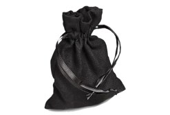 Black Faux Suede Bag