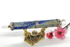 Healing Wand with Lapis Lazuli and Clear Quartz