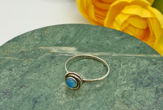Chalcedony in Sterling Silver Ring Size 8
