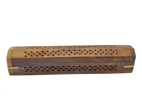 Scroll Wooden Box Incense Burner
