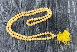 Orange Calcite Mala Prayer Beads