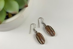 Crazy Lace Agate in Sterling SIlver Earrings