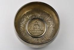 """6.5"""" Silver White Tibetan Singing Bowl"""